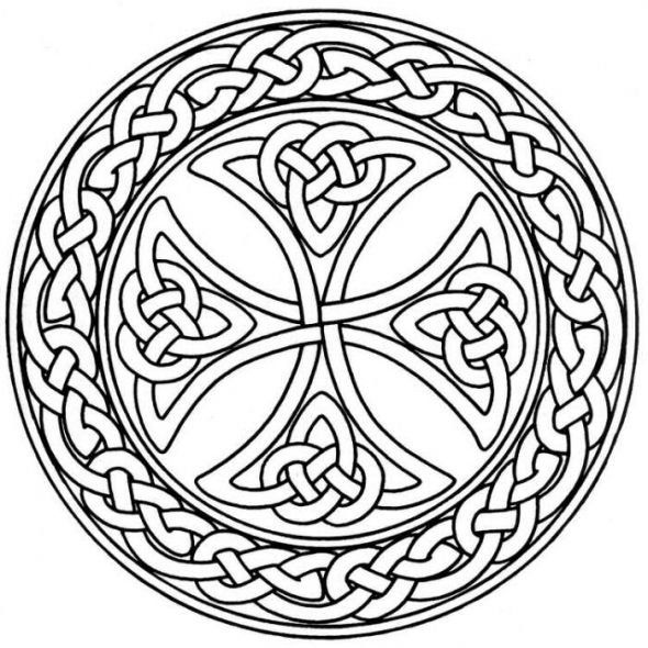 free celtic symbols coloring pages | celtic coloring pages | St Patrick's Day Coloring Pages ...
