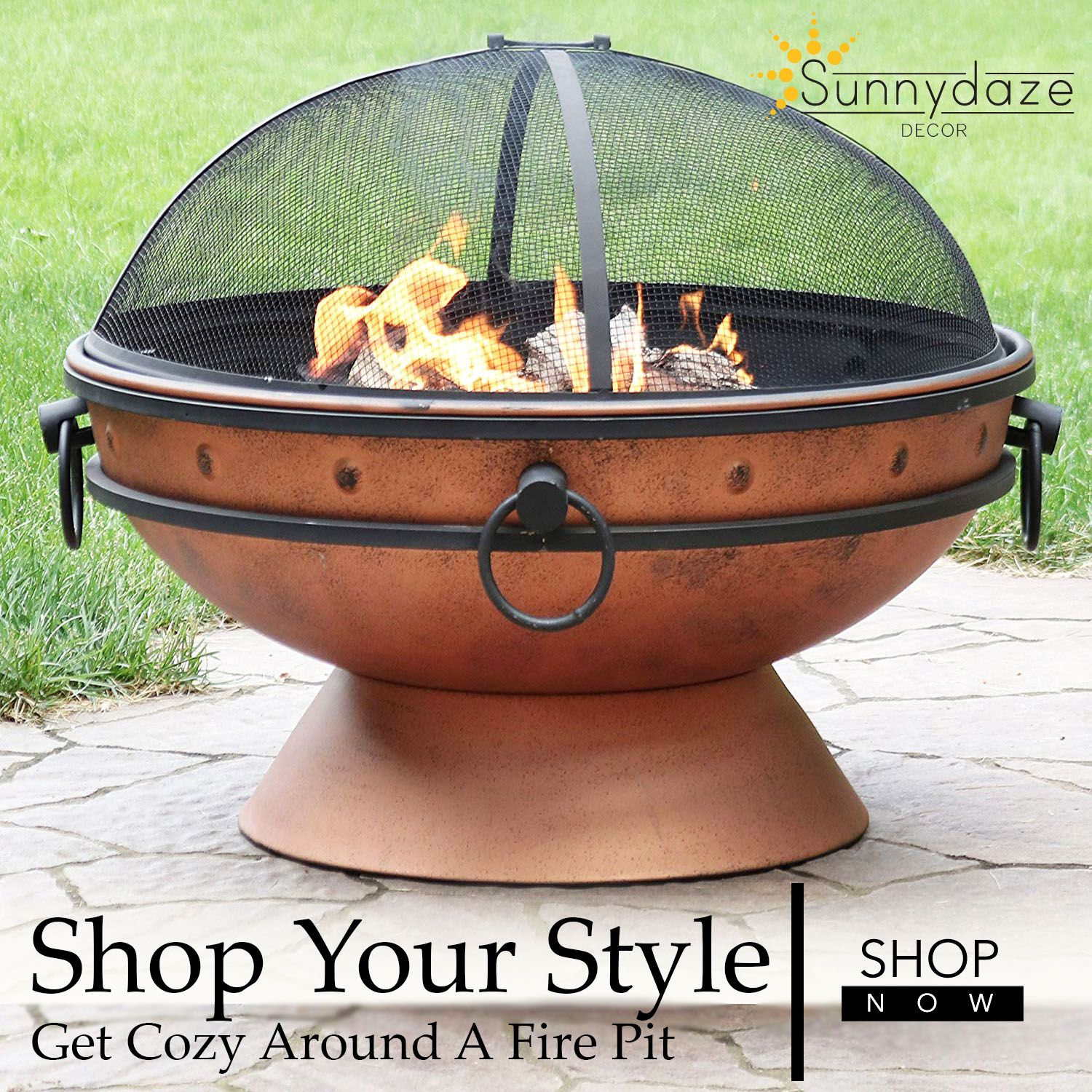 Bring a beautiful outdoor woodburning fire pit to your yard patio