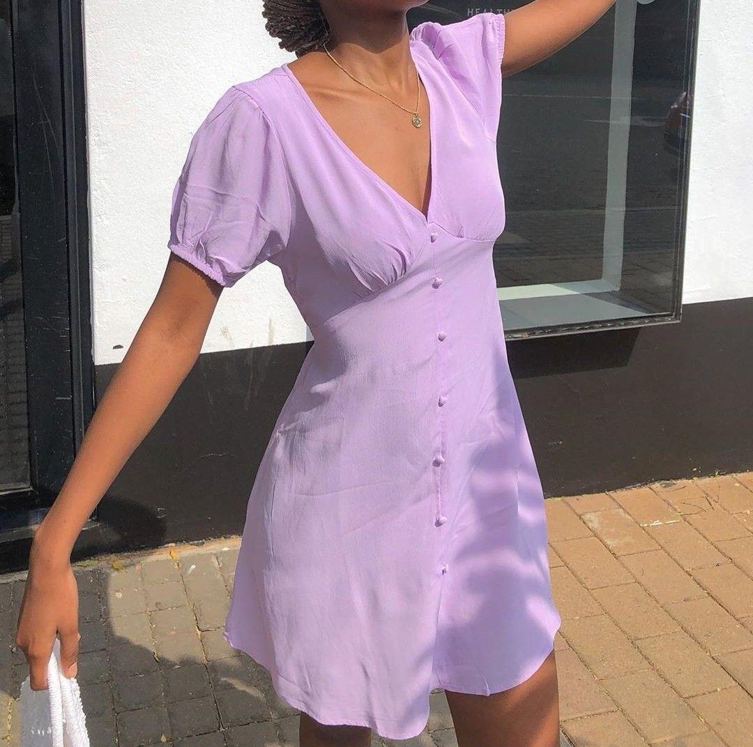 Lavender Dress Lavender Outfit Purple Summer Dress Purple Outfits [ 1071 x 1080 Pixel ]