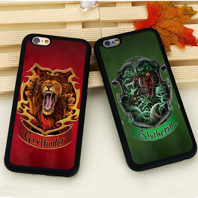 3b2a6780e7b Harry Potter Slytherin Gryffindor Ravenclaw Hufflepuff Soft Rubber Phone  Case For iPhone 6 6S Plus 7 7 Plus SE 5 5S 5C 4S Cover