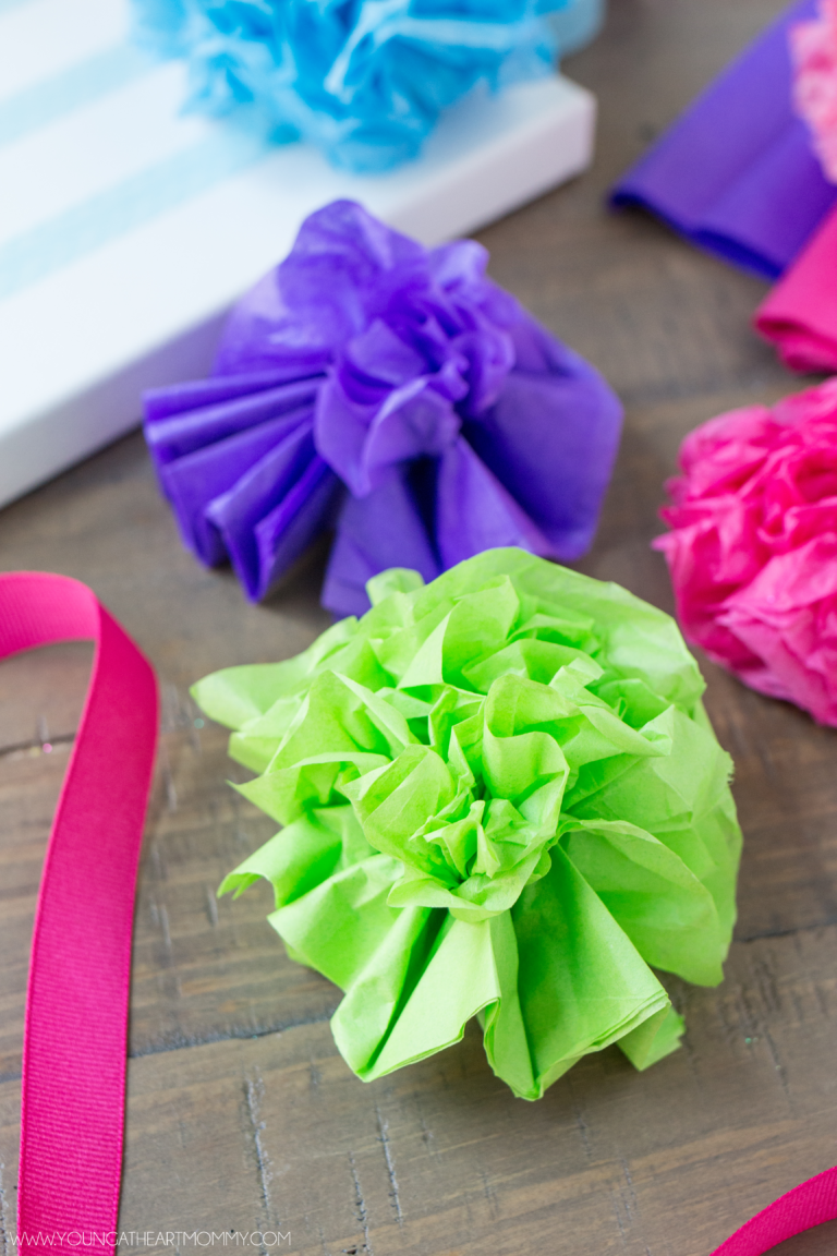 Tissue Paper Flower Step By Step Tutorial Mothers Day Pinterest