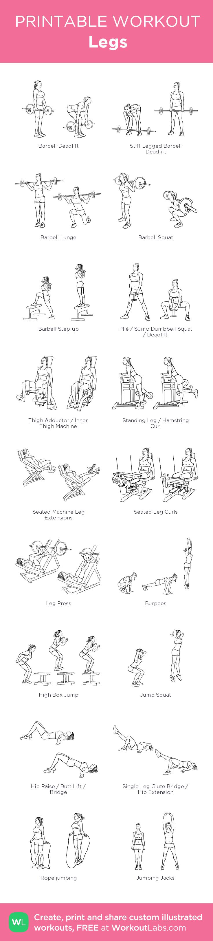 Luscious image inside printable gym workout