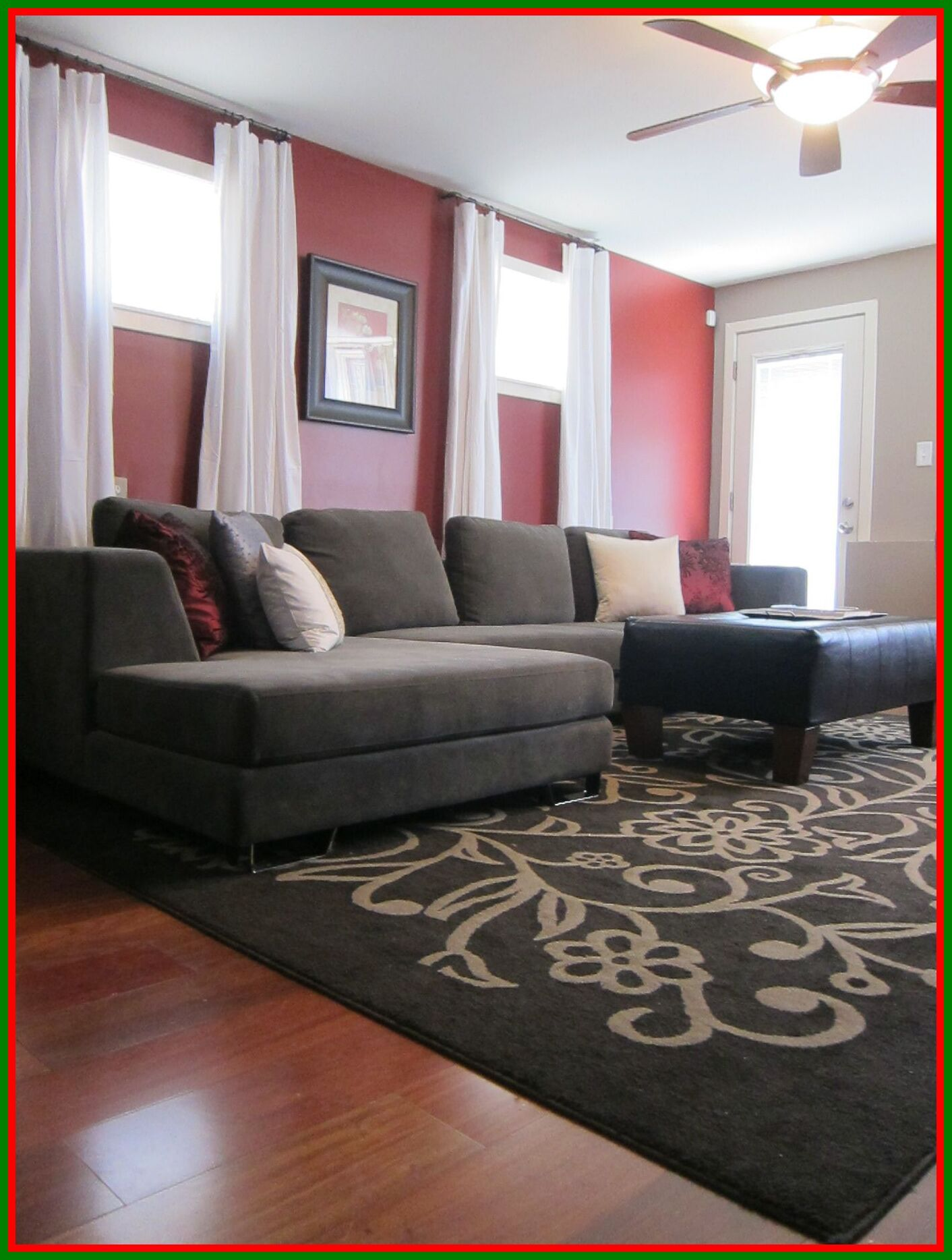 108 Reference Of Living Room Decor With Red Accent Wall In