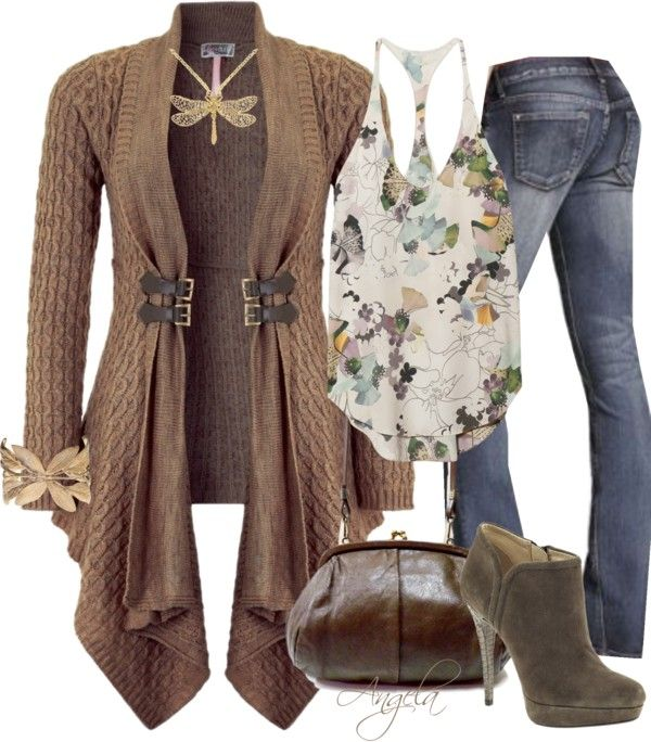 """""""Floral Chocolate"""" by angela-l-s ❤ liked on Polyvore"""