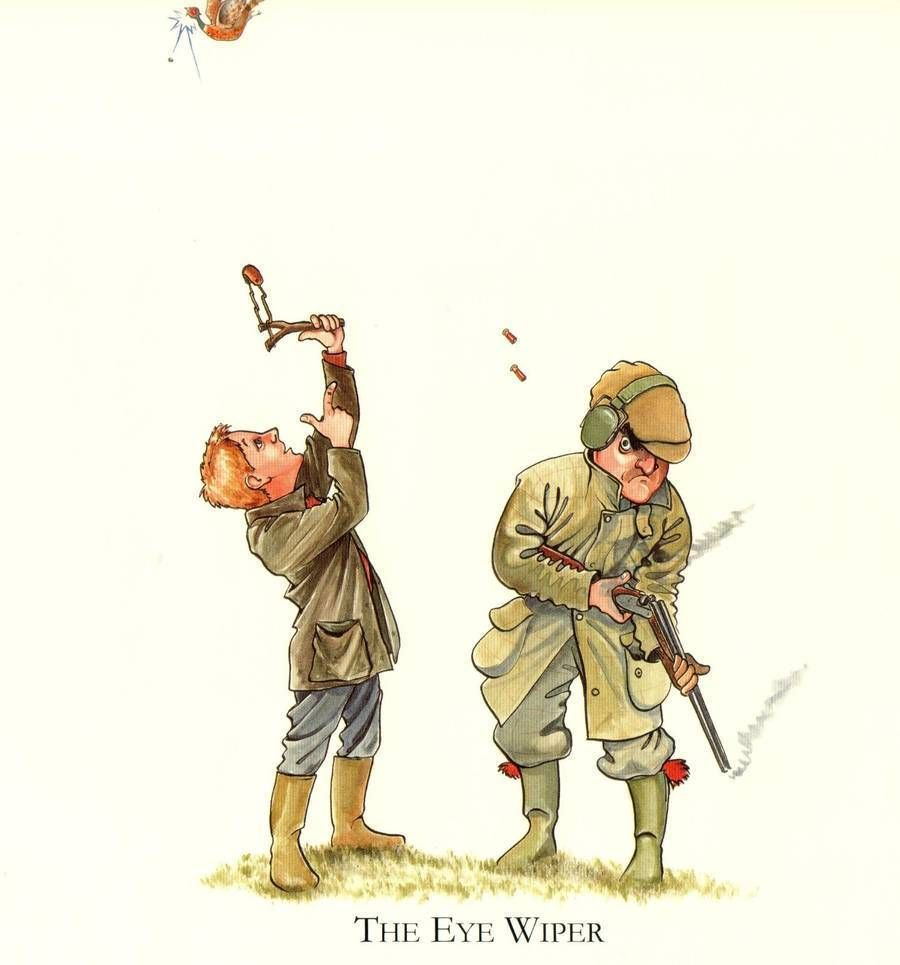 Country Humour Shooting Hunting Funny Mounted Cartoon