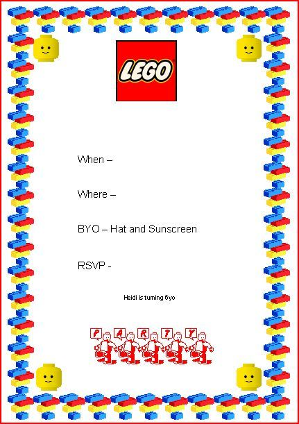 Lego Party Invite Legoduploparty Lego Duplo Pin Win House Party