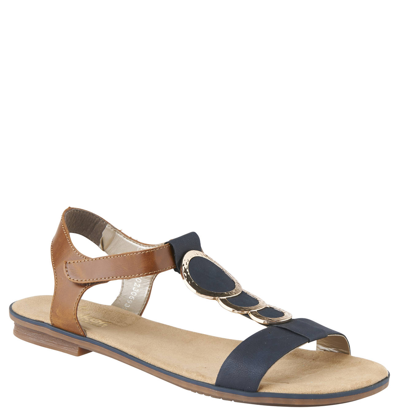 Sandalen, Metallringe, Klettverschluss | Rieker sandalen