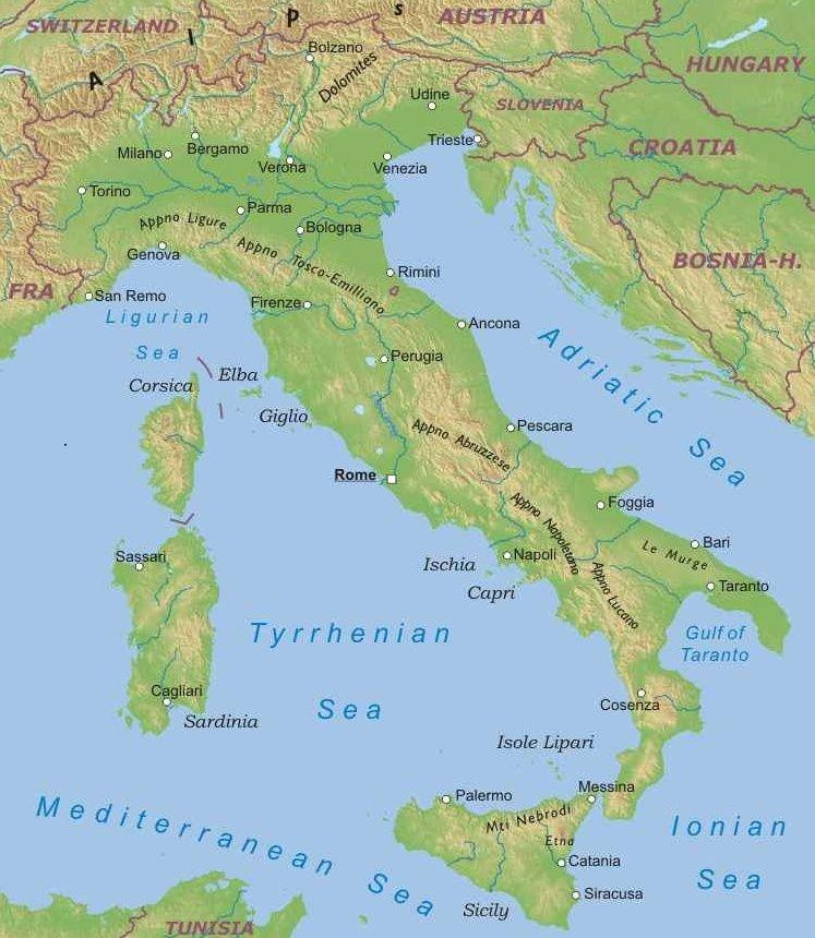 Apennines Mountains, Seas around Italy -Europe, Challenge A ...