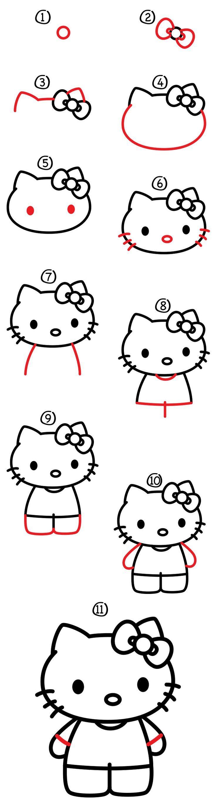 How to draw hello kitty art for kids hub hello kitty