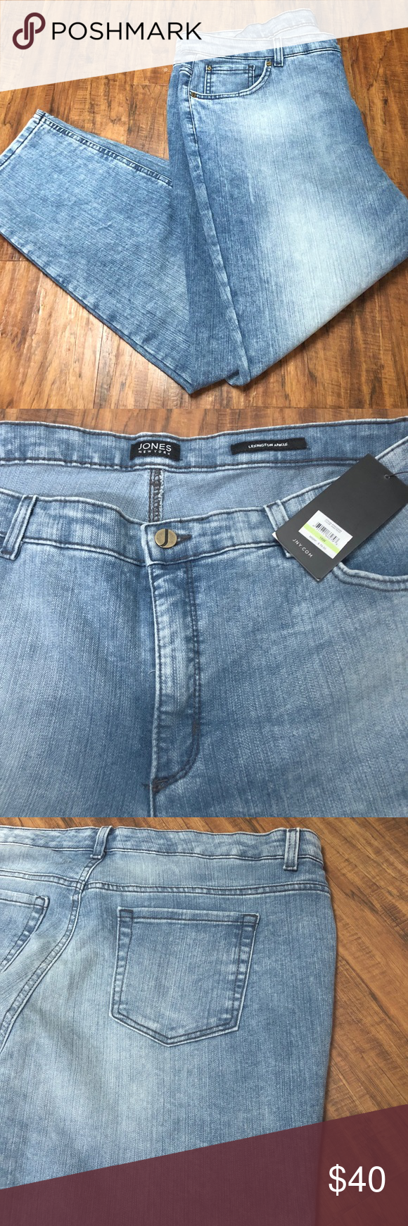 f815d51c8bfbd Jones New York Plus Size Lexington Ankle Jeans New with tags. Size 18W.  Light wash. Jones New York Pants Straight Leg