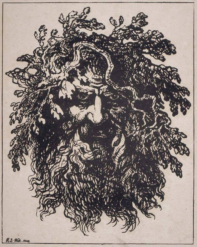Greenman- CELTIC -WICCAN-PAGAN -WITCHCRAFT- A4 LAMINATED ...