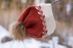 Photo of Winter buds hat L / Snowflake adult