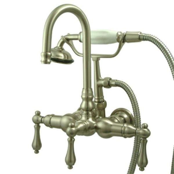 Americana Wallmount Satin Nickel Clawfoot Tub Faucet Metal