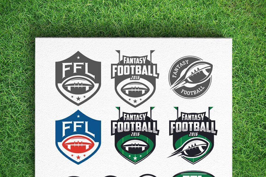 Fantasy football league logos