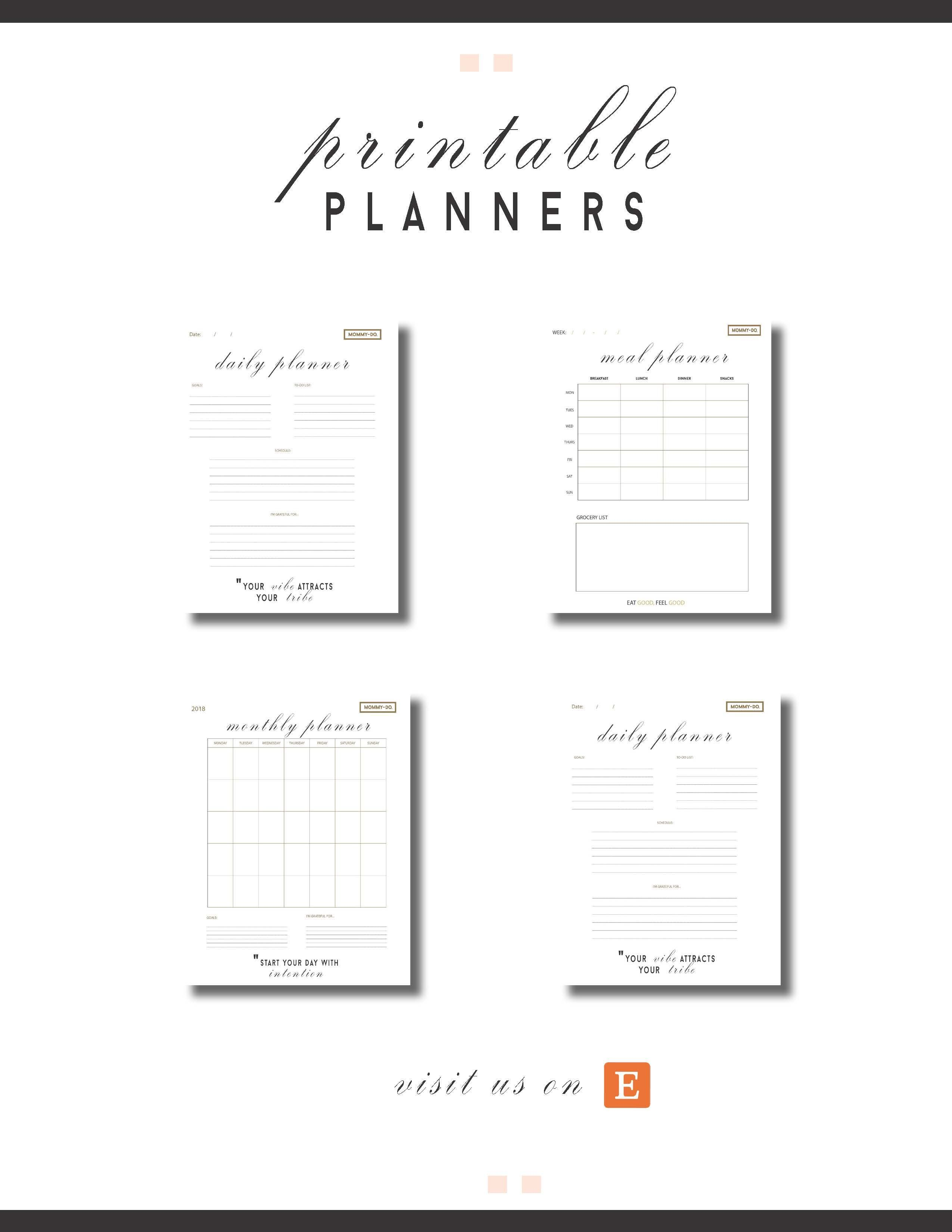 start your organization today with our printables from meal planner