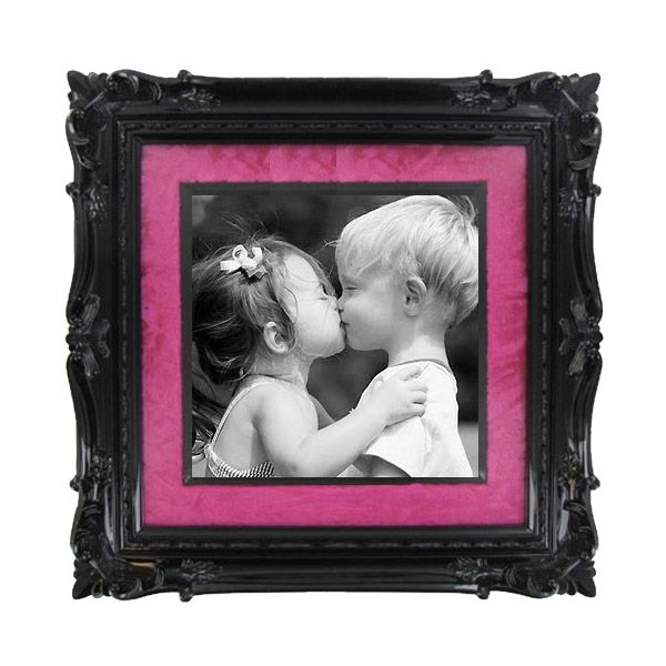Green Tree Gallery Black Frame with Hot Pink Velvet Mat | Galleries ...