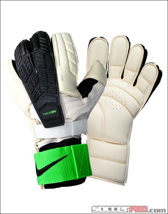 45d63dea3 Nike Confidence Goalkeeper Gloves - White with Green and Black...$134.99