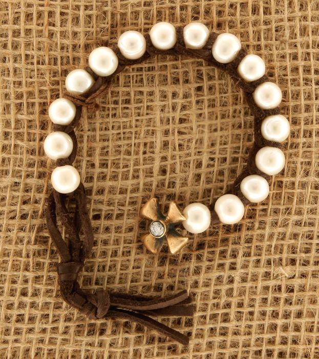 Love Tokens Pearl Cross Bracelet from Smith and Western