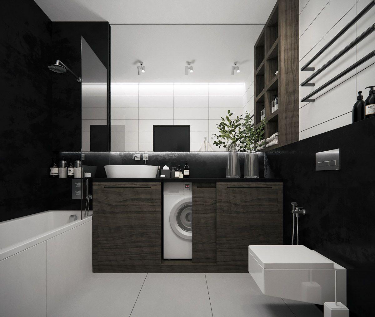 astounding calming modern minimalist bathroom white | 40 Modern Minimalist Style Bathrooms | Ship container ...