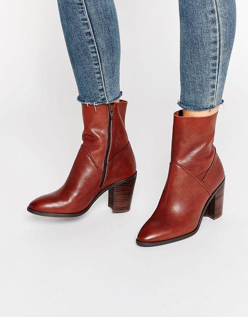 ALDO Fearien Leather Heeled Ankle Boots | wishlist. | Pinterest ...