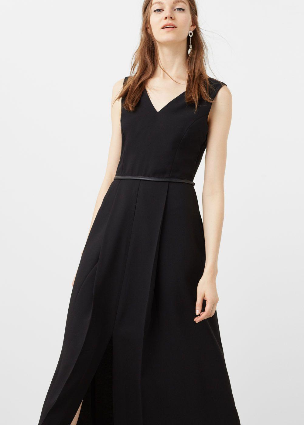 373fb50d30d9 Robe longue fendue - Femme