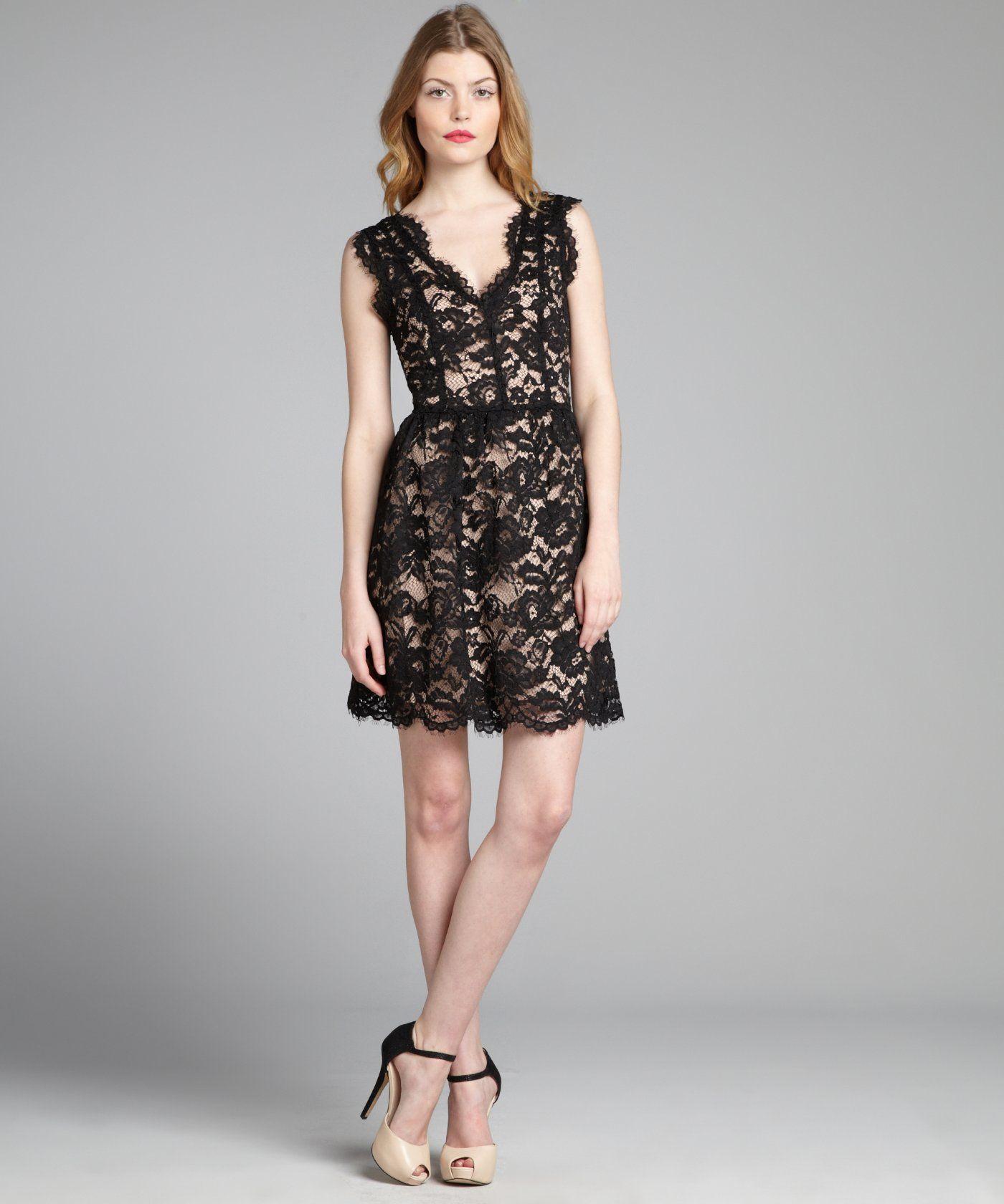 V neck black lace dress  Wyatt black lace scalloped vneck sleeveless dress  All things Chic