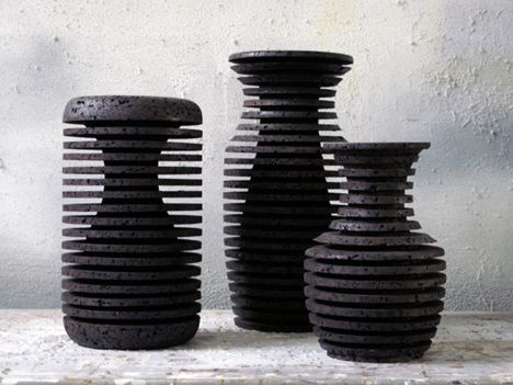 """""""The outside shape is based on a Greek Amphora vase. The inner shape is inspired by an brass Indian flower vase."""