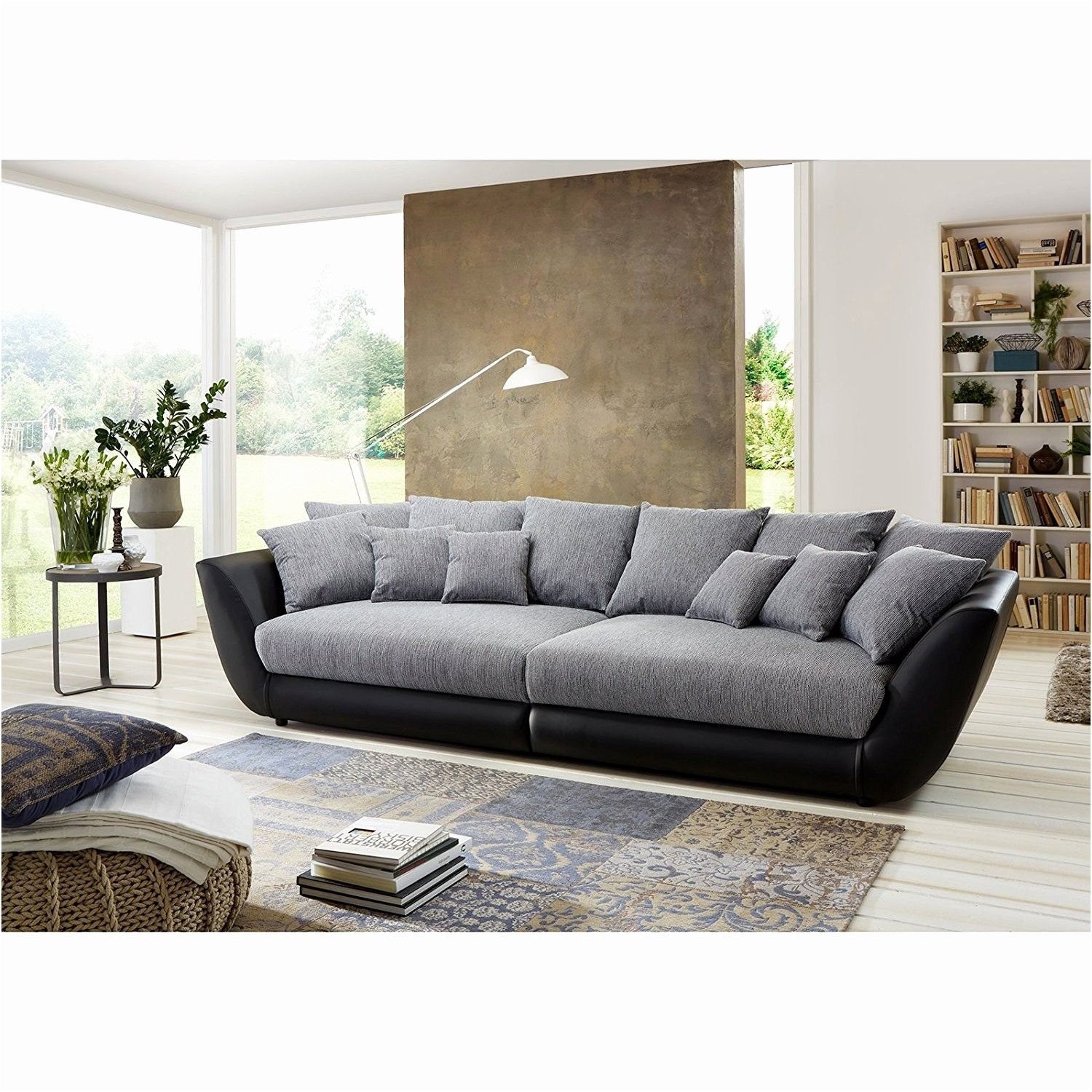 Ideal Schlafsofa Kunstleder Schwarz Sectional Sofa With Chaise Large Living Room Furniture Living Room Furniture Inspiration