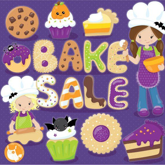 Halloween clipart, dessert clipart, halloween treats commercial use
