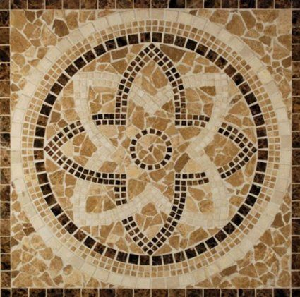 Stone Medallion Floor Art 36
