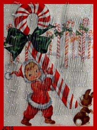 Vintage Candy Cane Victorian Girl Fabric Block by fabricblocks, $6.00