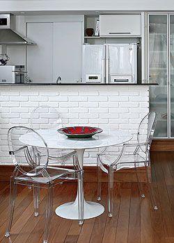 Pin De Fabiana Martins Em Apartamentos Cozinha De Tijolos