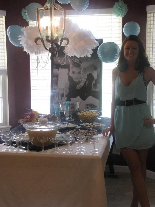 More Tiffany's baby shower decorations