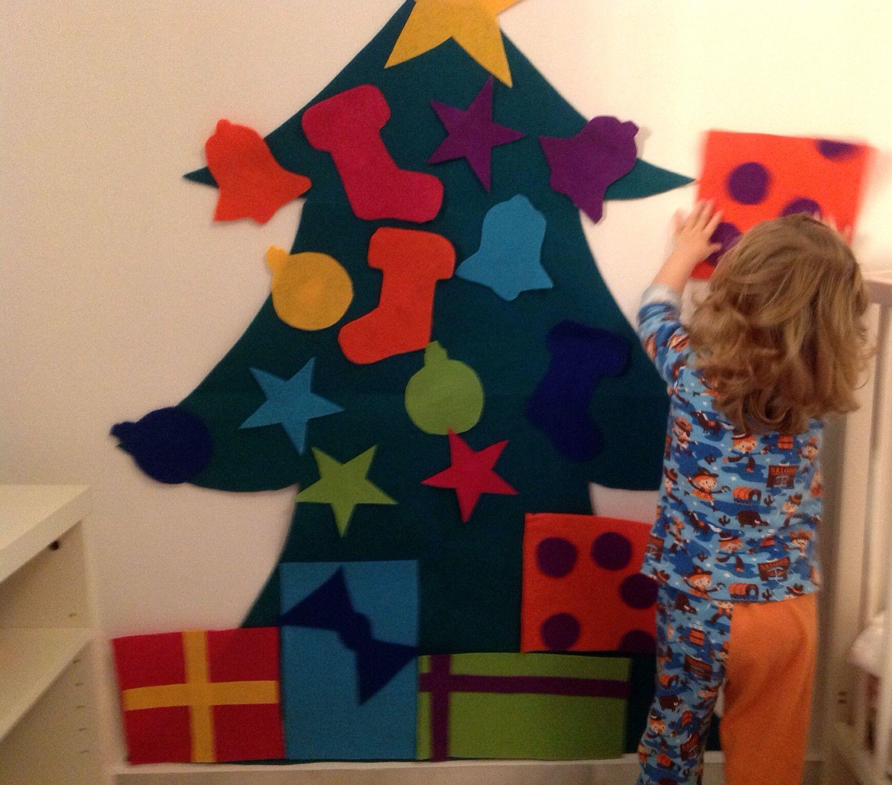 Diy rbol de navidad en fieltro fieltro navidad y antojo - Arbol de navidad de fieltro ...