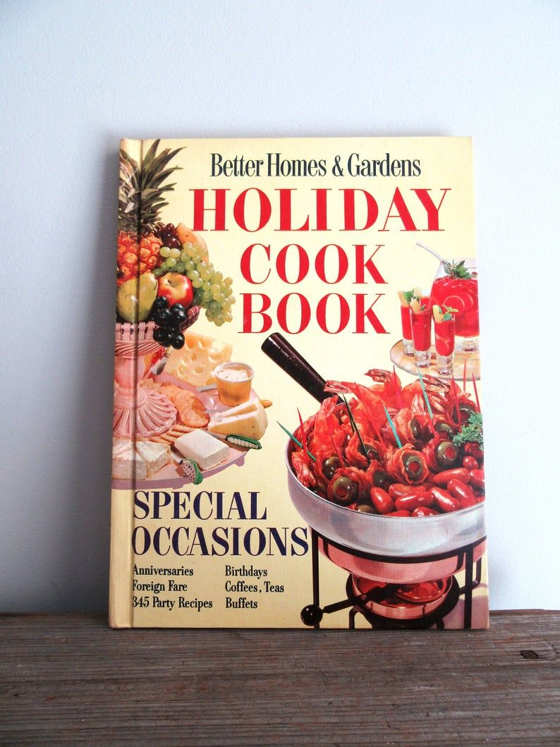 BHG Mid Century Holiday Cookbook Better Homes and Gardens | Etsy