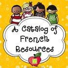 {Free} French Resources Catalog - français  I sometimes get lost in the middle of all the products TpT has to offer or sometimes I can't find somet...