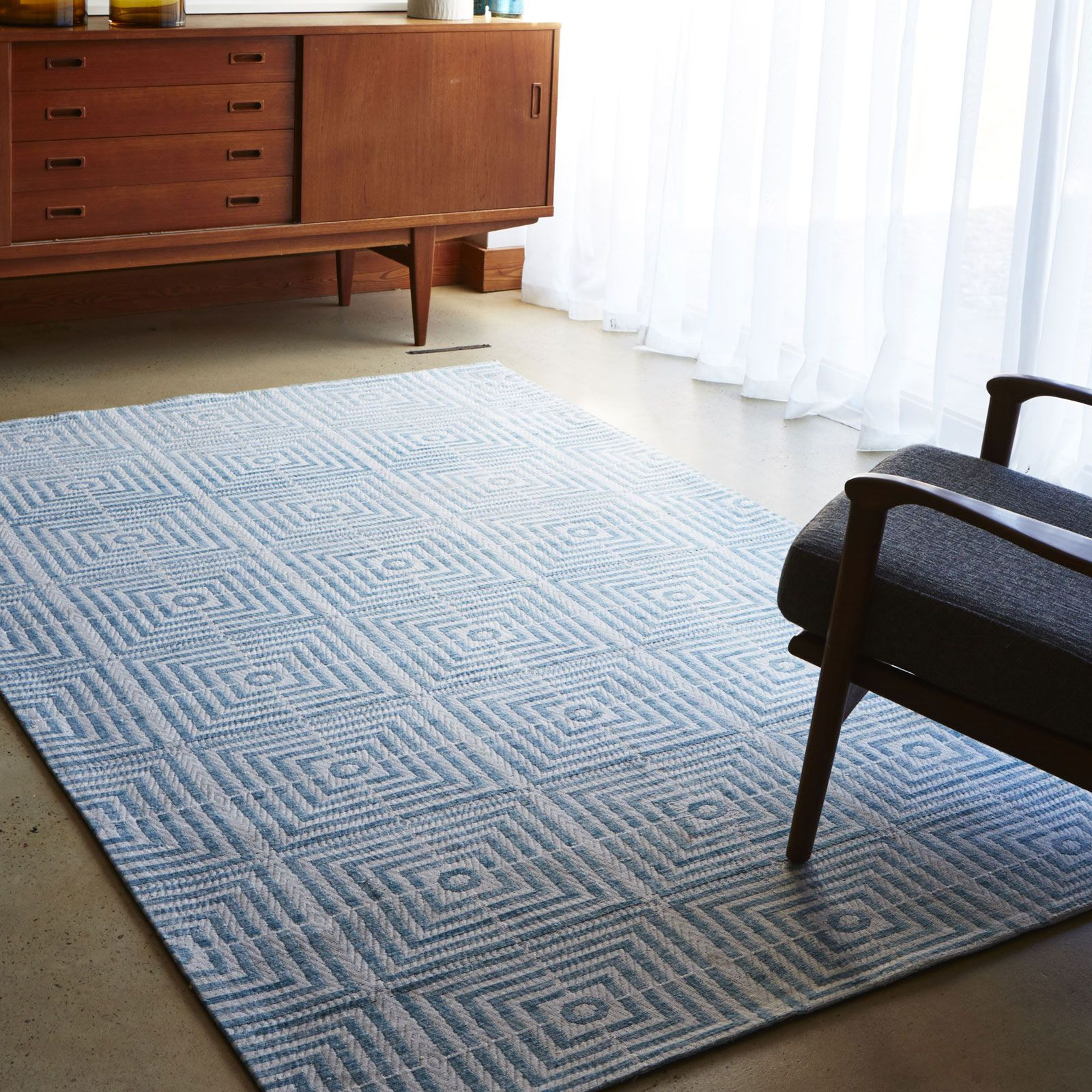 Be Square Rugs BES02 Blue