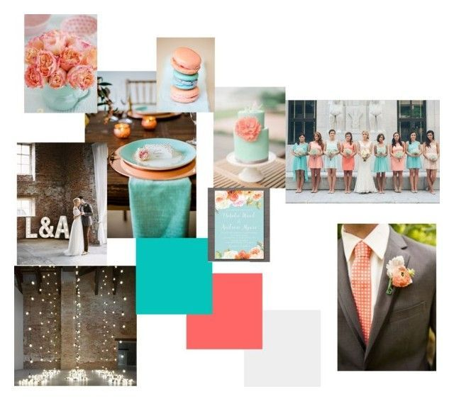Turquoise & Coral Wedding by amygreen-399 on Polyvore #turquoisecoralweddings Turquoise & Coral Wedding by amygreen-399 on Polyvore #turquoisecoralweddings