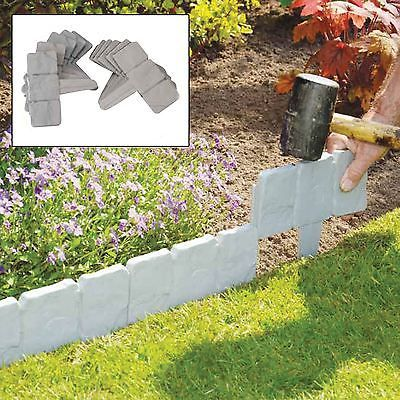 10 Pack Grey Cobbled Stone Effect Plastic Garden Lawn Edging Plant Border |  Other Landscaping Materials | Landscaping U0026 Garden Materials   Zeppy.io