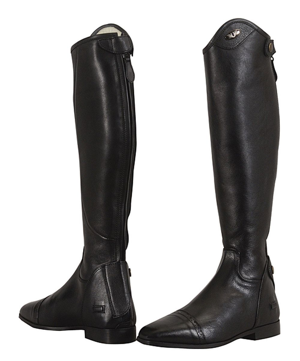 Look at this TuffRider Black Regal X-Tall Leather Dress Boot on #zulily today!