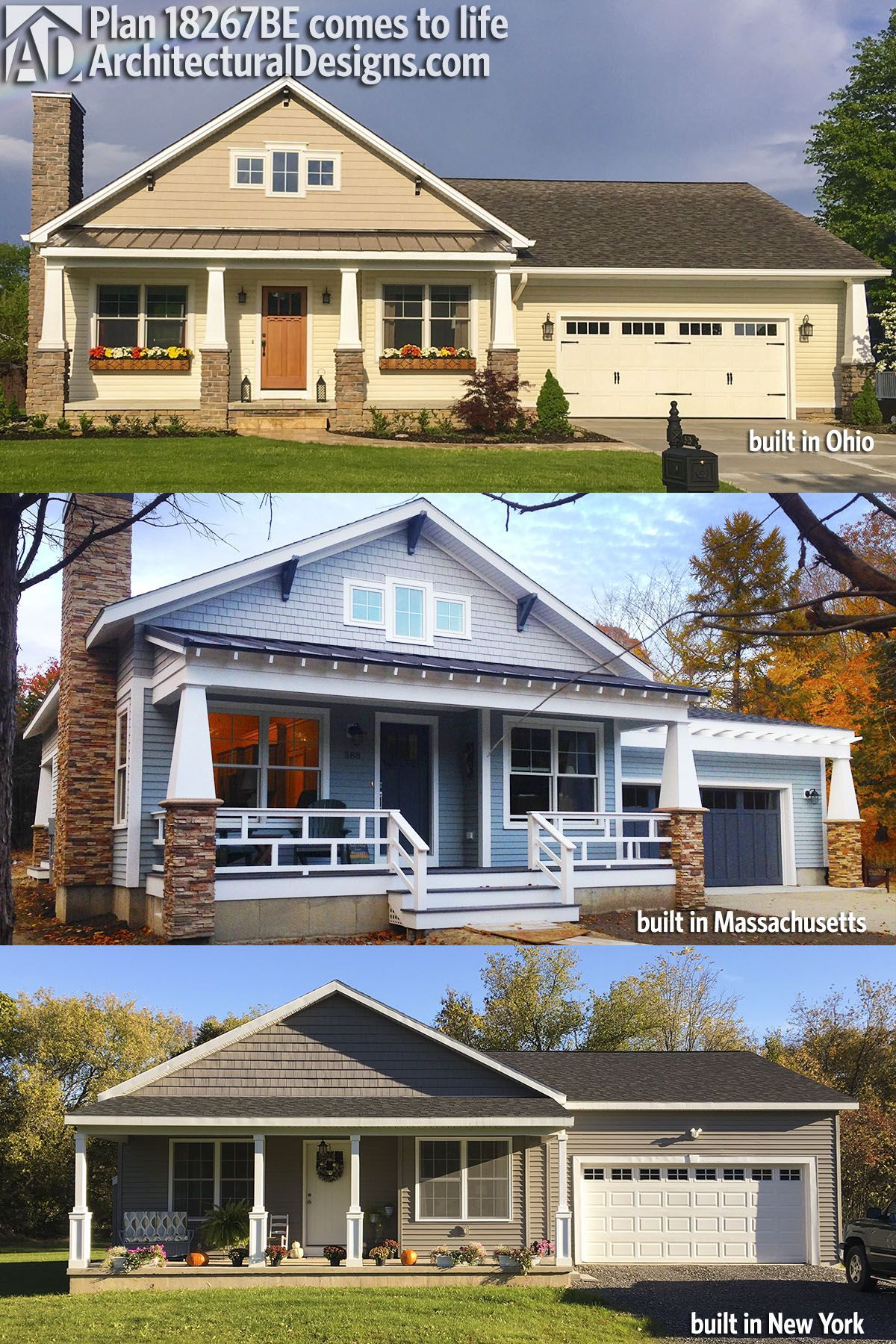 Architectural Designs Bungalow House Plan 18267BE comes