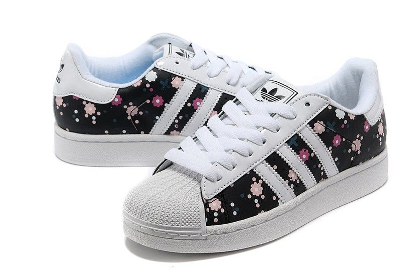 online store 2a857 c1ea0 Adidas Superstar 2 Floral Negro Blanco Originals Trainers mujer Casual  Zapatos G00831
