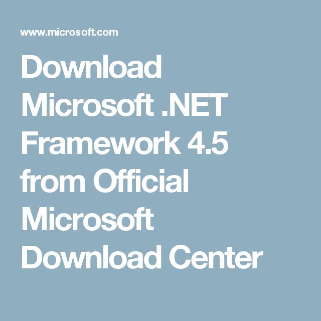 microsoft net download 4.5