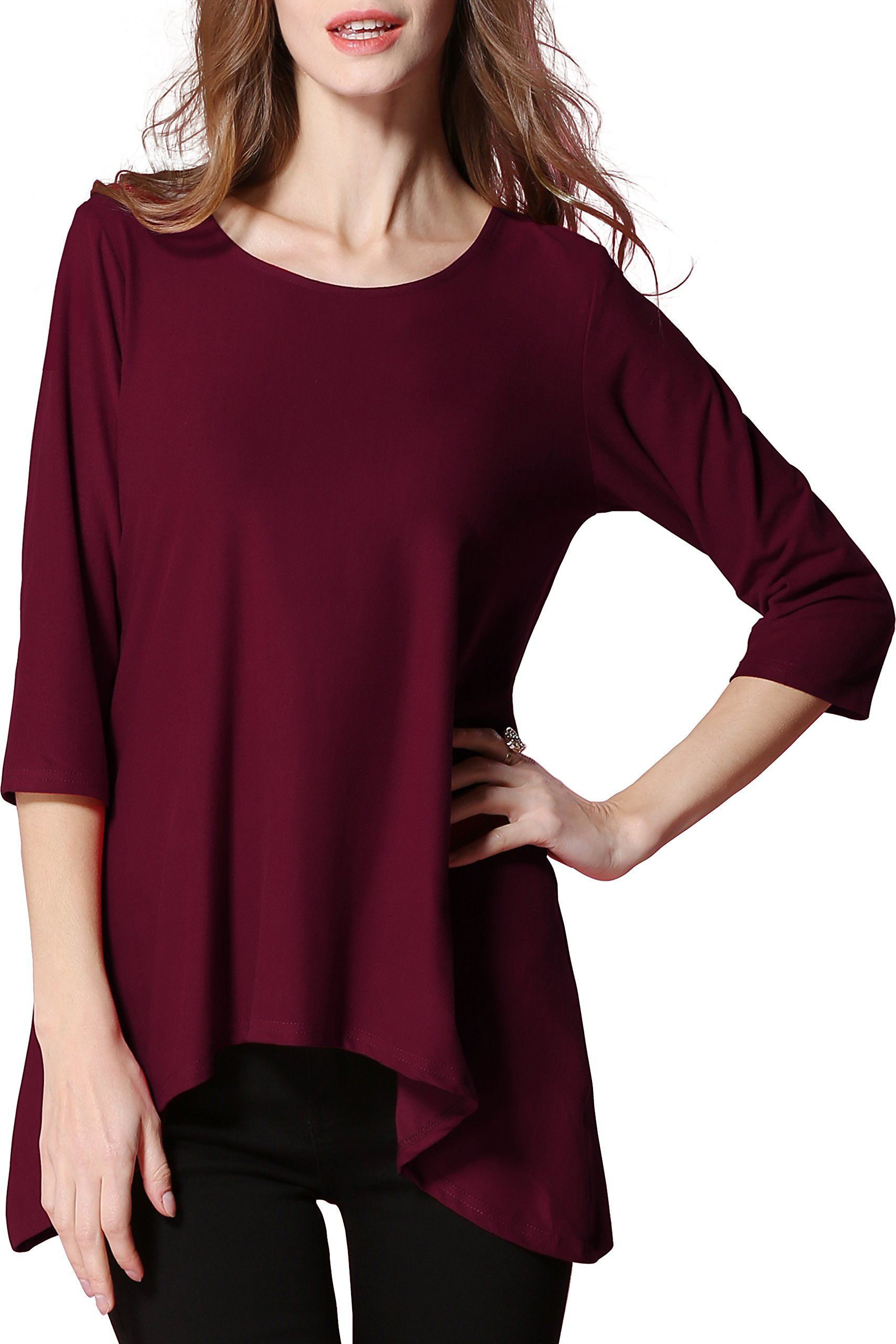 5c7612ded69 Maternity Styles - oversized maternity leggings   Girl2Queen Womens  Maternity Clothes Swing Summer Tunic Tops Loose Tunic 3 4 Sleeve Shirts for  Women     ...