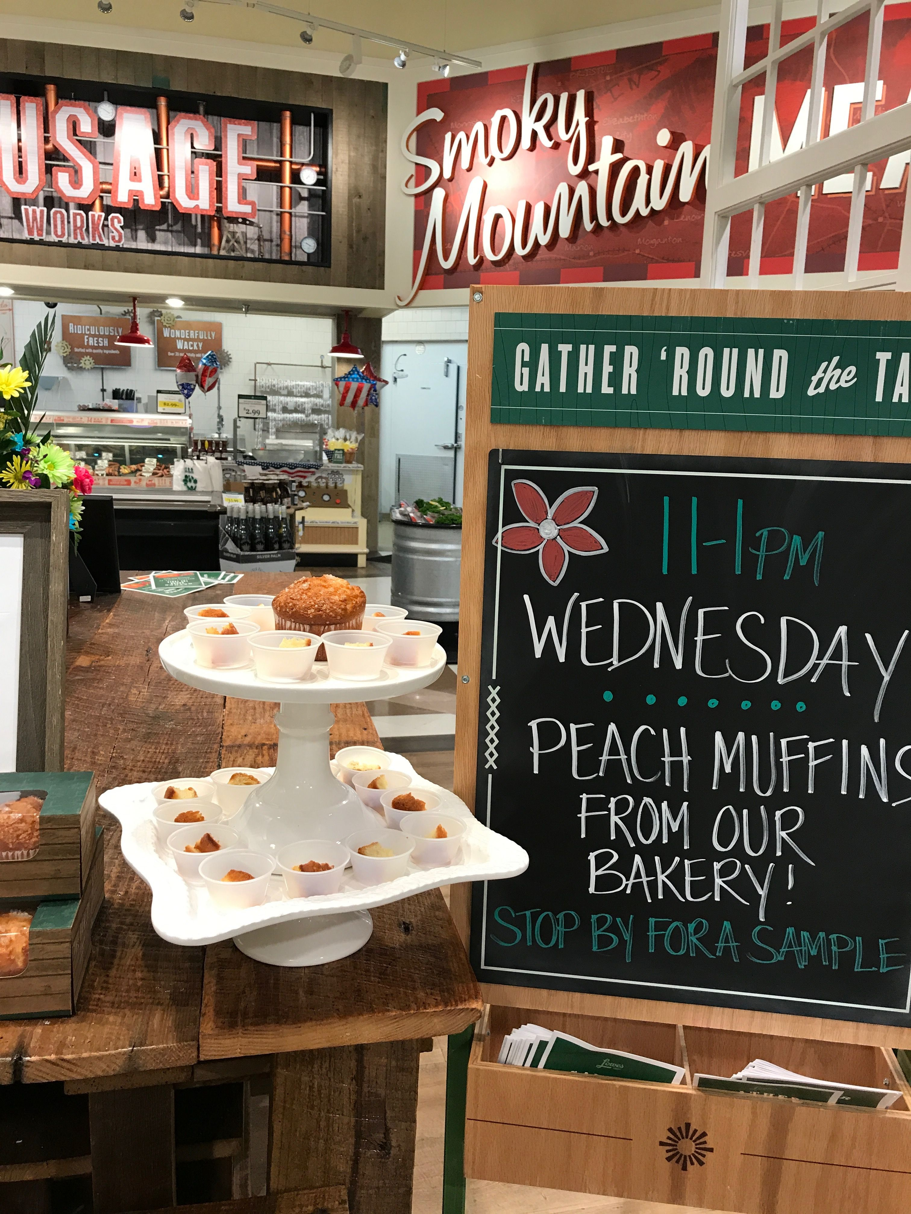 Peach Muffins Lowes food, Bakery