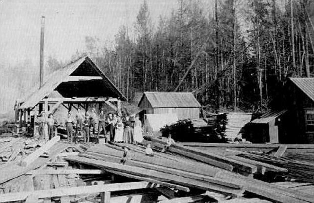 Priarie Sawmill   Old Woodworking Photos   Pinterest