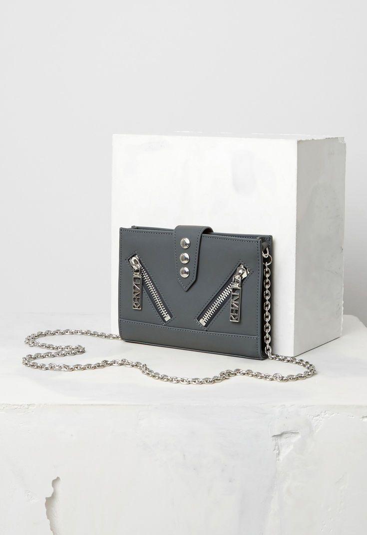 9b863255e7 Kalifornia Wallet on chain Gommato Leather for ACCESSORIES Kenzo   Kenzo.com