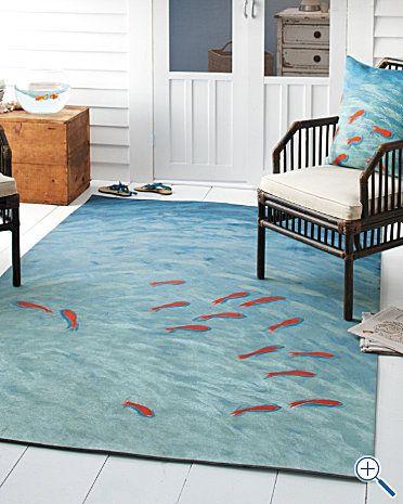 Indoor Outdoor Rug Fish 5 X 8 Zuuka Office Pinterest