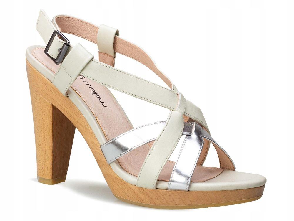Buty Damskie Sandaly Na Slupku Mellow Yellow Jasne 8033270590 Oficjalne Archiwum Allegro Shoes Heels Sandals