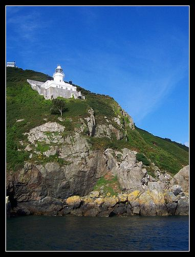 This lighthouse is located on the small island of Sark in the Chanel Islands near France.